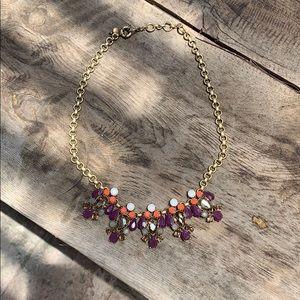 J.Crew statement necklace with rhinestones.